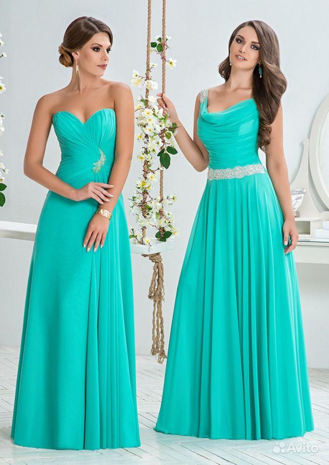 Вечерние платья бирюзового цвета