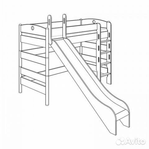 Кровать с горкой