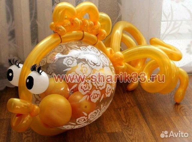 Золотая рыбка из воздушных шаров