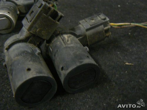 Парктроники на передний бампер bmw e39 бмв е39.