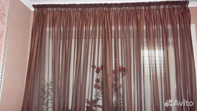 занавески для зала из органзы фото