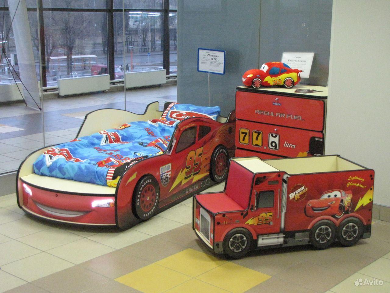 Кровать машинка Тачки молния Макквин (детская) купить в ...