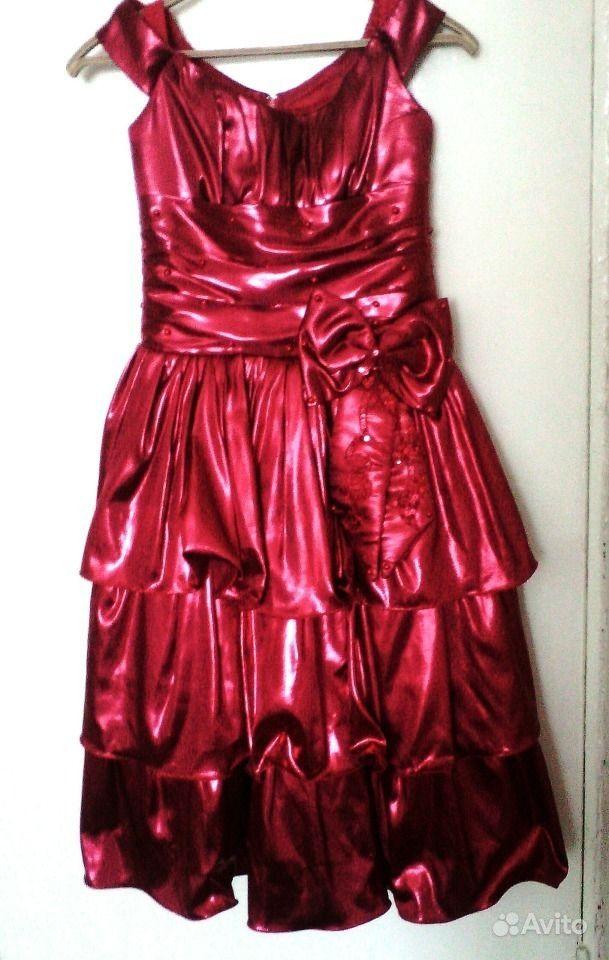 купить красное платье на авито