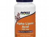 Альфа-Липоевая кислота NOW Alpha Lipoic Acid 250 м