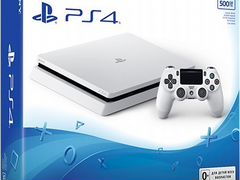 Sony PlayStation 4 (PS4) slim 500gb Glacier White