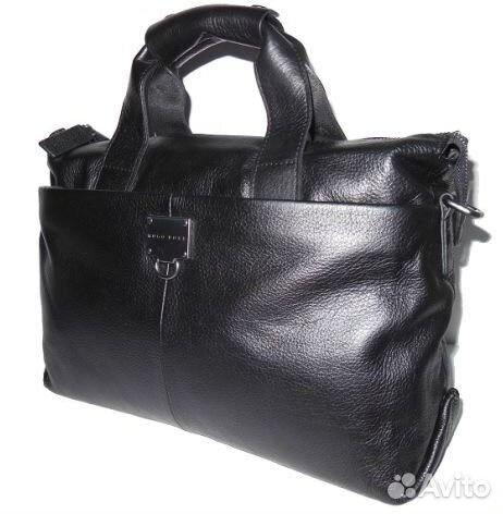 25d64d054fe3 Мужская кожаная сумка Hugo Boss А4 мужские сумки купить в Москве на ...