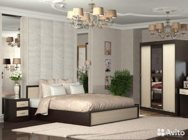 новыйудобный спальный гарнитур бася с матрасом Festimaru