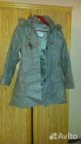 Пальто из натуральной кожи в отличном состоянии