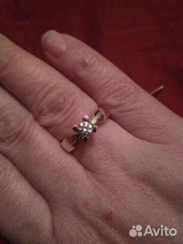 Золотое кольцо с бриллиантом 0,35 карат   Festima.Ru - Мониторинг ... 3619ee3e088