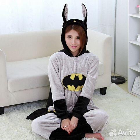 Костюм кигуруми Бэтмен размер S новый d53a57f7030d4