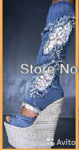 72e345940 Продам летние джинсовые сапоги | Festima.Ru - Мониторинг объявлений