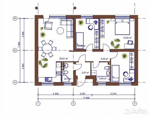 House 87 m2 on a plot 6 hundred. buy 10