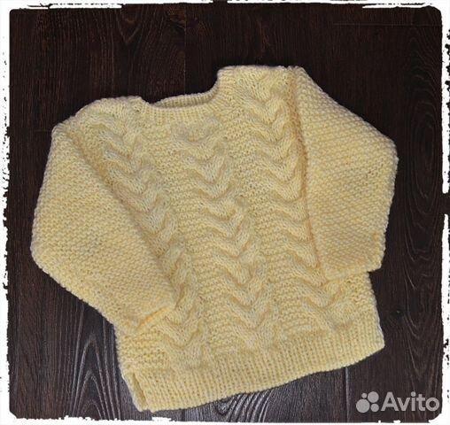 вязаный свитер для девочки ручная работа купить в москве на Avito