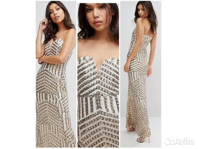 1cf025d8329 Длинное красивое платье с пайетками