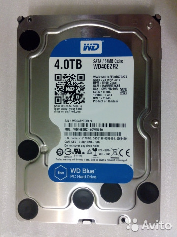 Western Digital WD Blue Desktop 4 TB (WD40ezrz)
