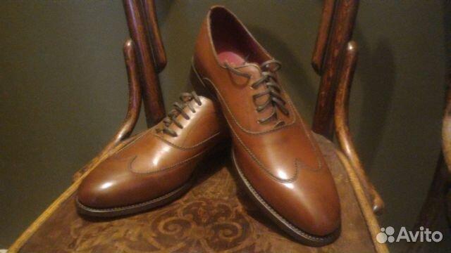 3d8646ad Ботинки мужские английские оксфорды туфли 41,5-42— фотография №1
