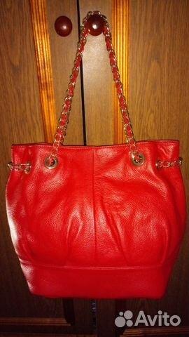 779a5c919b16 Красная кожаная сумка в идеальном состоянии купить в Москве на Avito ...