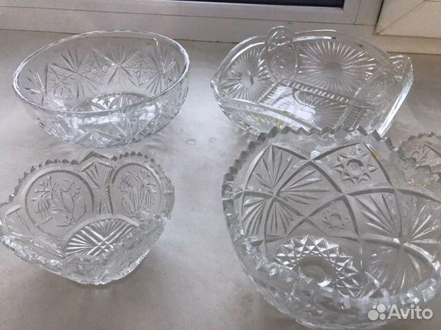 Продам графины, хрустальные вазочки, салатницы 89026306182 купить 4