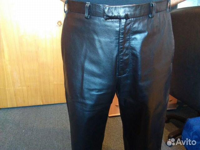 Брутальные кожаные брюки  89139131619 купить 3