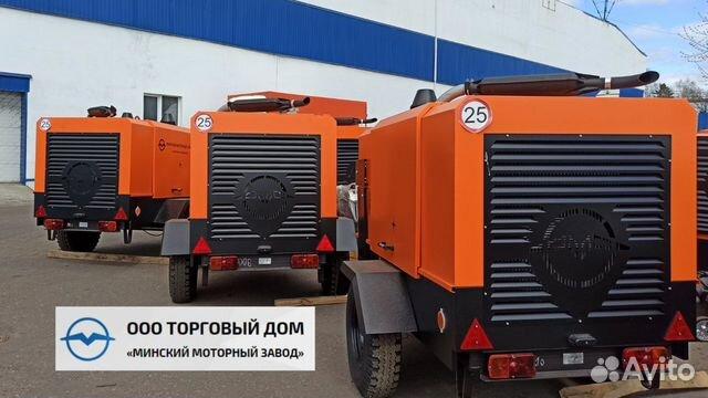 Компрессор винтовой дизельный ммз-пв10/1,0