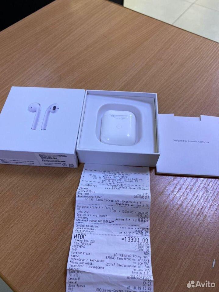 Беспроводные наушники Apple AirPods 2 Original (64  89080093671 купить 1
