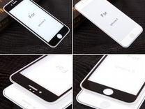 Защитное стекло 4D для iPhone 6 бел