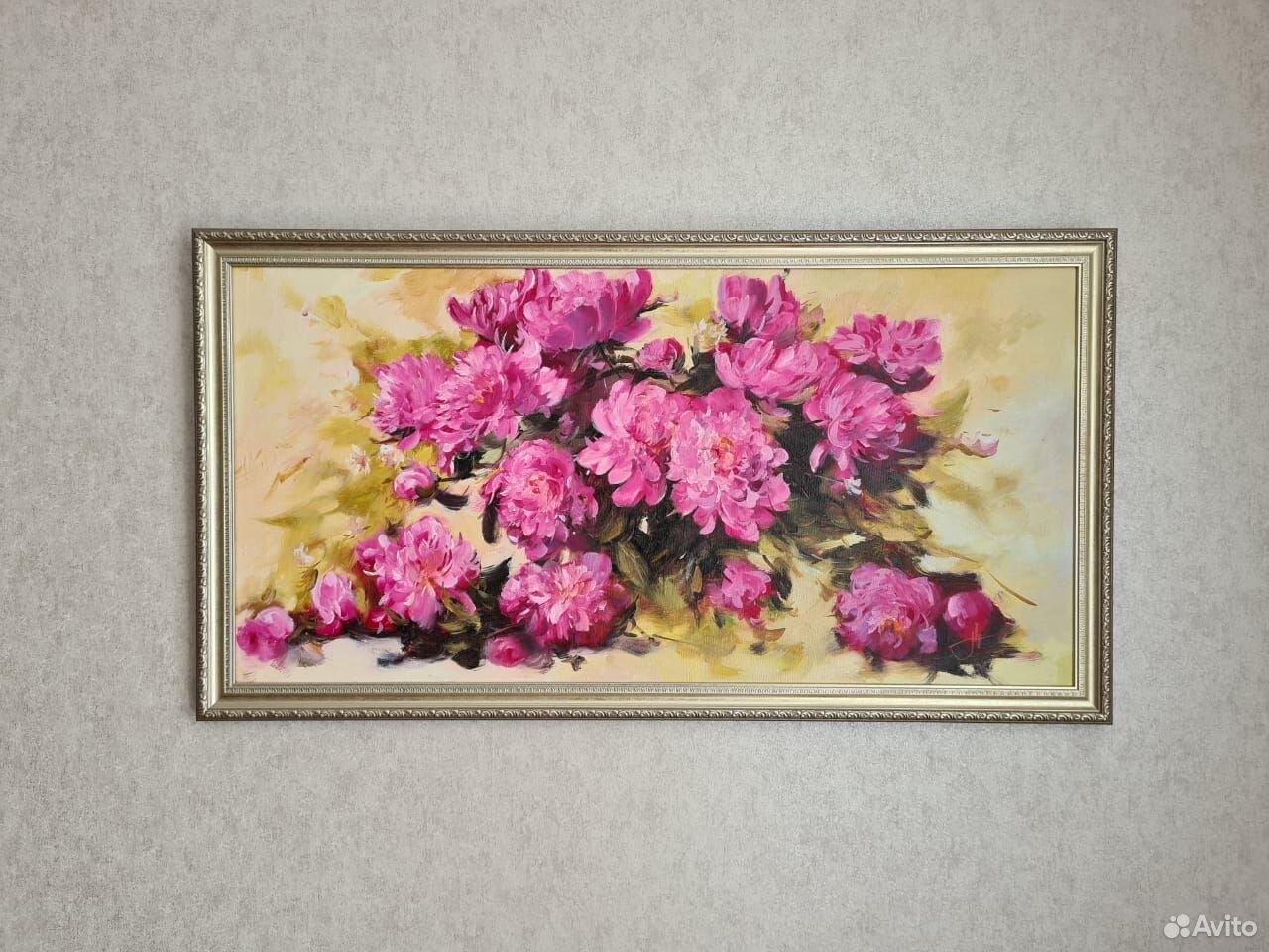 Картина пионы  89214333668 купить 1