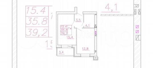1-к квартира, 39.2 м², 3/4 эт. в Ивановской области | Покупка и аренда квартир | Авито