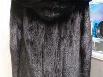 Норковая шуба черная Копенгаген