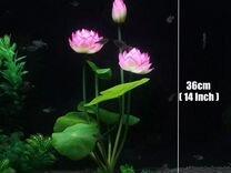 Искусственные водоросли лотос, коряга, островок
