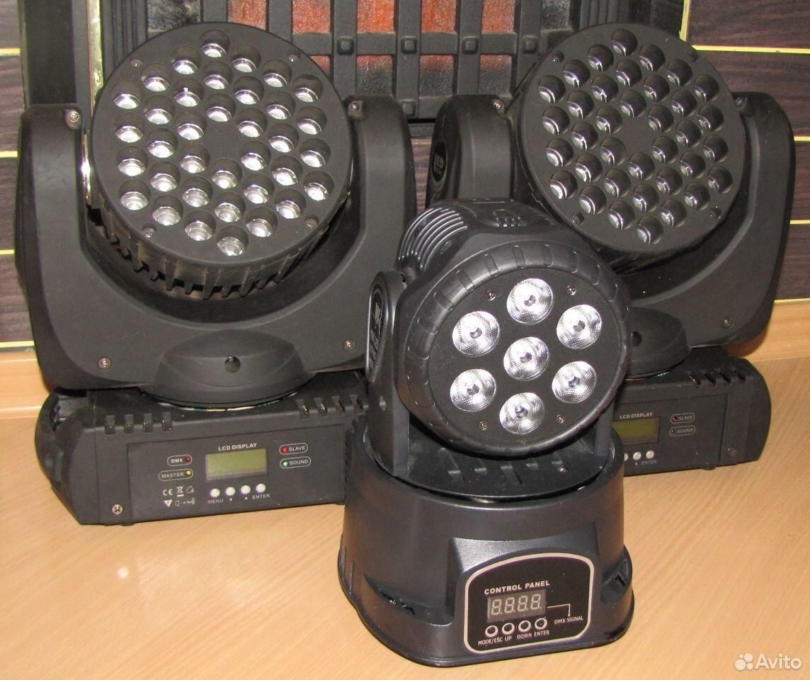 Проф светомузыка 3 вращающиеся головы LED микрофон  89128899109 купить 2