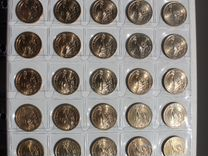 США 1 доллар с президентами, набор (34 монеты)