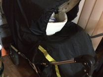 Коляска Emmaljunga mondial 2 в1 кожа поворот шасси
