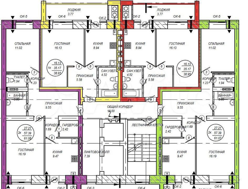 2-к квартира, 61.4 м², 2/10 эт.  89278709979 купить 4