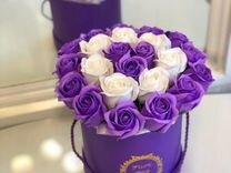 Розы из мыла в коробках по 50шт