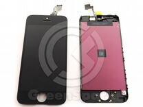 Дисплей для iPhone 5C +тач черный с рамкой AAA