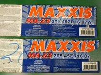 2 шт. Шины R16/205/45 Maxxis MA-Z3